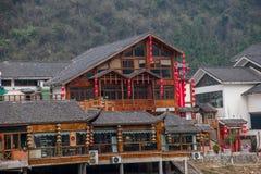 Gata för Hunan Zhangjiajie Wulingyuan flodtorkduk Royaltyfria Bilder