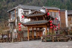 Gata för Hunan Zhangjiajie Wulingyuan flodtorkduk Royaltyfri Bild