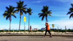 Gata för Ipanema strandkondition stock video