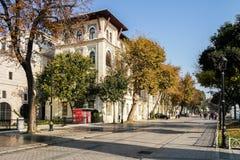 Gata för Istanbul sultanahmetfyrkant Fotografering för Bildbyråer