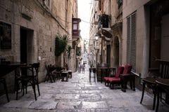 Gata för kanal för Valletta ` s Royaltyfria Bilder