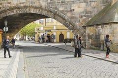 Gata för Na Kampe, Prague arkivfoton
