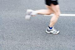 gata för rörelse för blurstadsmaraton running Fotografering för Bildbyråer