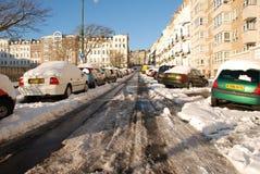 gata för st för leonardshav snöig Arkivbild