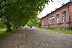 Gata för ` för Suomenlinna havsfästning arkivbilder
