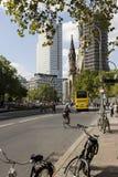 Gata för Kurfà ¼rstendamm i Berlin Fotografering för Bildbyråer