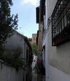 Gata Granada Alhambra fotografering för bildbyråer