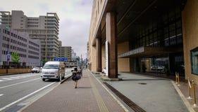 Gata i Akita City, Tohoku, Japan Royaltyfri Bild