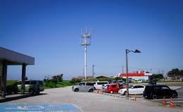 Gata i Akita City, Tohoku, Japan Arkivbild