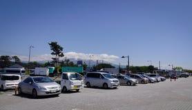 Gata i Akita City, Tohoku, Japan Royaltyfri Fotografi