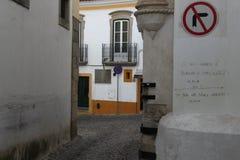 Gata i Aveiro, Portugal Arkivbilder