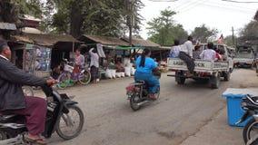 Gata i Bagan, Myanmar arkivfilmer