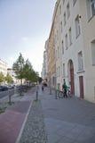 Gata i Berlin Arkivfoton