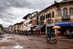 Gata i Cambodja Arkivbild