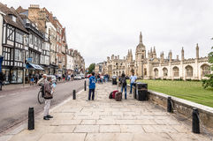 Gata i Cambridge Fotografering för Bildbyråer