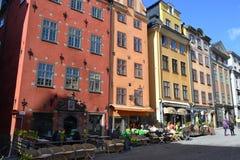 Gata i centaldel av Stockholm Royaltyfri Foto