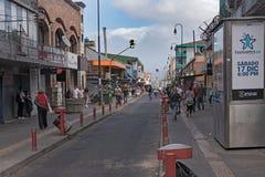 Gata i centret av San Jose huvudstaden av Costa Rica arkivbild