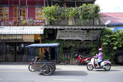 Gata i Chiang Mai, Thailand Arkivfoton