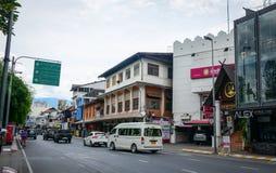 Gata i Chiang Mai, Thailand Arkivbild