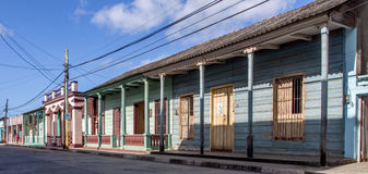 Gata i den Baracoa Kuban Arkivfoto