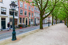Gata i den gamla staden av Leiden, Nederländerna Royaltyfria Foton
