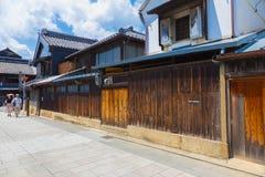 Gata i den gamla staden, Kawagoe, Japan Arkivbild