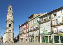 Gata i den gamla staden porto Portugal Royaltyfri Fotografi