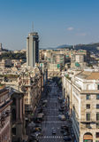 Gata i den Genoa mitten Royaltyfria Bilder