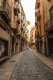Gata i den judiska fjärdedelen av Girona Fotografering för Bildbyråer