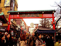 Gata i den tokyo japnaen Arkivbild