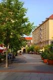 Gata i Dresden Arkivfoto