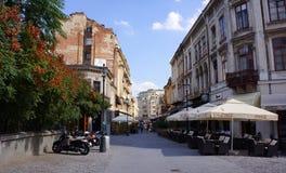 Gata i gamla Bucharest Fotografering för Bildbyråer