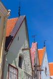 Gata i gammal del av den Tallinn staden Arkivbilder