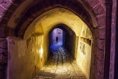 Gata i gammal Jaffa port Royaltyfria Foton