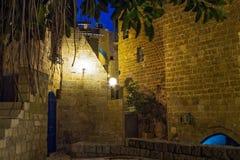 Gata i gammal Jaffa port Arkivfoto