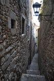 Gata i Girona Arkivfoto