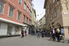 Gata i Graz Fotografering för Bildbyråer