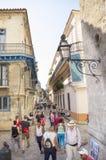 Gata i Havana Cuba royaltyfria bilder