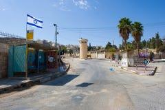 Gata i Hebron royaltyfria foton