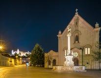 Gata i historisk mitt av Bratislava i den slovakiska republiken Royaltyfria Foton