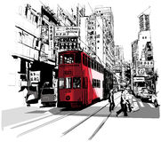 Gata i Hong Kong Arkivbilder