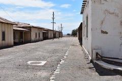 Gata i Humberstone, övergiven stad i Chile arkivbilder