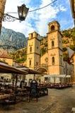 Gata i Kotor, Montenegro Arkivbild