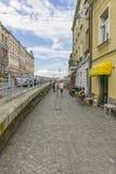 Gata i Krakow Arkivbild