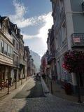 Gata i Le Tréport, Frankrike Arkivfoto