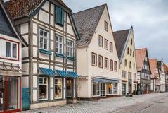 Gata i Lemgo, Tyskland fotografering för bildbyråer