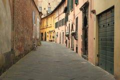 Gata i Lucca Royaltyfri Fotografi