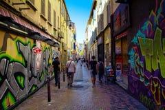 Gata i Marseille Royaltyfri Fotografi
