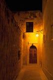 Gata i Mdina Malta Arkivbild