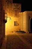 Gata i Mdina Malta Arkivfoto